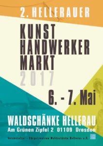Plakat zum 2. Hellerauer Kunsthandwerkermarkt